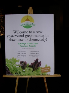 Schenectady greenmarket sign