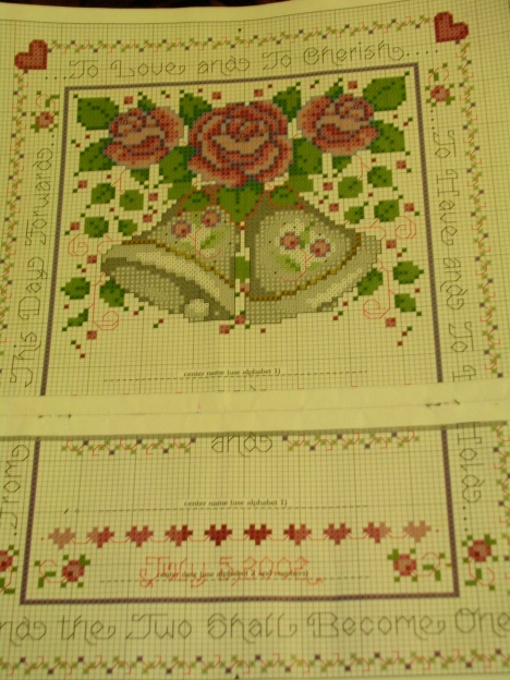 Wedding cross-stitching pattern