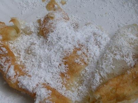 Half-eaten fried dough