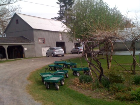 Barn and wagons