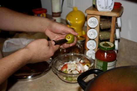 Coring tomatoes